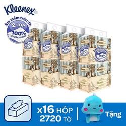 [Tăng khủng long cánh sách] Combo 16 hộp giấy Kleenex VINTAGE 170SX40