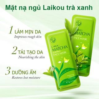 Mặt nạ ngủ nuôi dưỡng da trà xanh LAIKOU mặt nạ ngủ chống lão hóa mặt nạ dưỡng trắng mặt nạ nội địa Trung mặt nạ matcha - JS-MN16 thumbnail