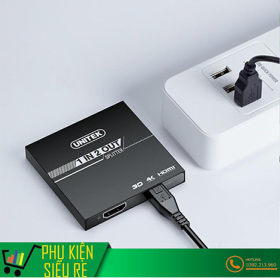 Bộ Chia HDMI 1 Ra 2 Cổng UNITEK V116A Hỗ Trợ 4K Cao Cấp [ĐƯỢC KIỂM HÀNG] -  29994989   Cáp Tivi