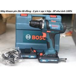 Máy khoan pin Boss 26v lõi đồng - Máy khoan pin cầm tay 26v- Khoan pin
