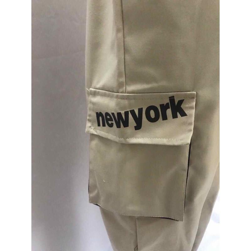 Quần kaki túi hộp nam nữ in New York – QKKTHNNINY