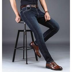 Quần Jean Nam ống suông trơn sang trọng trẻ trung, chất liệu vải Bò Cotton cao cấp, co giãn mặc thoải mái, phù hợp xu hướng thời trang - Mẫu HOT - BIG SIZE