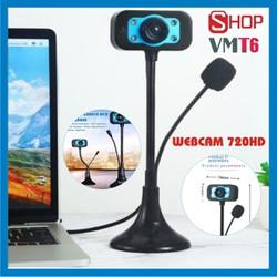 [CHÍNH HÃNG] Webcam 720P HD siêu nét Micro đàm thoại để làm việc & học tập trực tuyến.