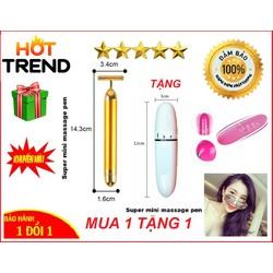 [Combo 2 máy rung mini] Máy Massage Rung Mini Cầm Tay - Máy massage rung thư giãn cầm tay mini + Tặng Pin AA (Video Thật)