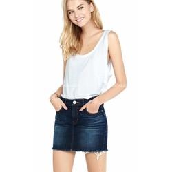 Chân Váy Jeans Cắt Nhãn Tua Ống - 0840