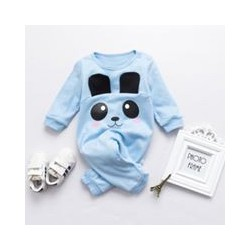 Quần áo trẻ em hình Gấu xanh cotton tay dài không nón