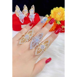 Nhẫn nữ màu vàng 18 màu bạch kim cao cấp