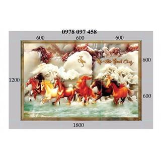 Tranh ngựa trang trí phòng - tranh gạch 3D - 097GT thumbnail
