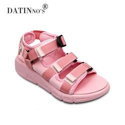 Giày Sandal Nữ Đế Xốp Thời Trang Vải Dù DATINNOS DT33 Hồng