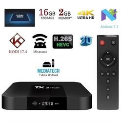 Tivi Box TX3 Mini CPU: S905W 2.0 Ghz - Hệ Điều Hành Android TV 7.1.2, Ram 1 GB ROM 8GB & 2GB Room 16 GB.