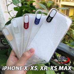 Ốp Lưng iPhone X / XS / XR / XS MAX Viền Nhôm Bảo Vệ Camera Siêu Đẹp