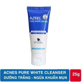 Sữa rửa mặt dưỡng trắng,làm sạch sâu giúp da mềm mịn trắng sáng Acnes Pure White Cleanser 25g - Pure White Cleanser 25g