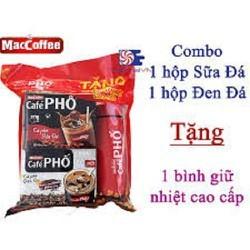 Combo 1 hộp Cà phê Phố sữa và 1 hôp cafe đen tặng bình giữ nhiệt