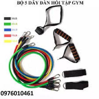 dụng cụ tập tay - bộ 5 dây tập thể dục thumbnail