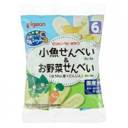Bánh ăn dặm Pigeon cá, rau củ 6 tháng 32g - Hàng nội địa Nhật