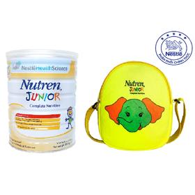 Mua 01 Lon Sản phẩm dinh dưỡng y học Nutren Junior - 800g, Tặng Túi đeo chéo Con Voi cho bé - NJU029485