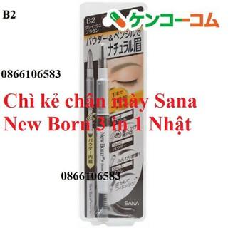 Chì kẻ chân mày Nhật Sana New Born 3 in 1 - 4964596417269 thumbnail