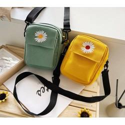 Túi tote, túi vải đựng điện thoại hoa cúc siêu hot XTHT 426