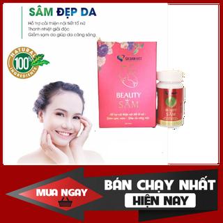 Viên uống trắng da Sa Sâm Việt BeautySAM - Da sáng bóng, nhẵn mịn, hồng hào từ bên trong, cân bằng nội tiết tố - BeautySam thumbnail