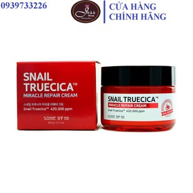 Kem Dưỡng Ẩm Phục Hồi, Cải Thiện Sẹo Lõm Chiết Xuất Ốc Sên Some By Mi Snail Truecica Miracle Repair Cream 60g - kem snail some by mi