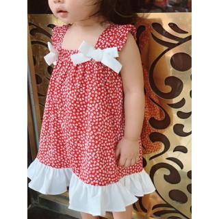 Váy hai dây thô nơ hoa nhí bé gái 1- 5 tuổi.Váy cotton bé gái.Váy hè bé gái.Đầm váy bé gái - 466 thumbnail