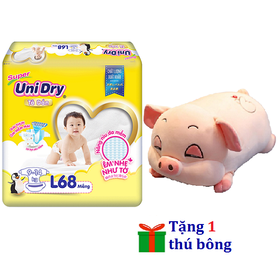 [Tặng 1 thú bông con heo nằm] Tã dán Unidry size M76 - size L68 - size XL62 - UNI-B1