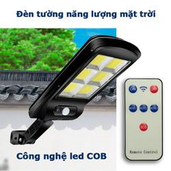 Đèn led cob 120 led năng lượng mặt trời liền thể cảm biến chuyển động
