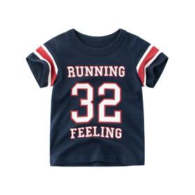 Áo thun bé trai 27Kids Running 32- Áo thun cotton bé trai Quảng châu xuất Âu Mỹ - ATN00427K
