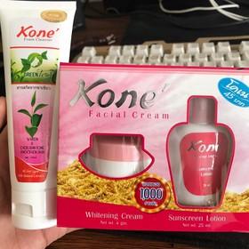 Combo sữa rửa mặt kone và kem kone dành cho da mặt - srmkone&kemkone