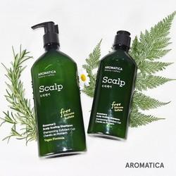 DẦU GỘI CHĂM SÓC DA ĐẦU, CHIẾT XUẤT HƯƠNG THẢO - TRỊ GÀU & RỤNG TÓC - Aromatica Rosemary Scalp Shampoo (Không silicone, sunfate)
