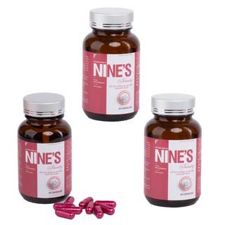 Combo 3 Hộp Viên uống trắng da Nine s Beauty 30 viên Giúp trắng da Toàn Thân, Hỗ trợ trị Nám Tàn Nhang, Giảm Nếp Nhăn, Tăng Cường Nội Tiết Tố Nữ, Chống Lão Hóa, Tăng sức đề kháng, hỗ trợ tăng cường chức năng gan, tuần hoàn máu, ngăn ngừa ung thư - Nine s Beauty thumbnail