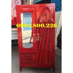 tủ quần áo sắt sơn dầu giá rẻ HCM