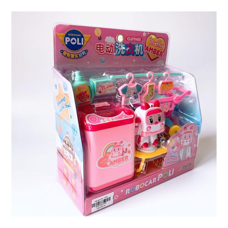 Bộ Đồ Chơi Máy Giặt, Xe Đẩy siêu thị Robocar poli – 3729