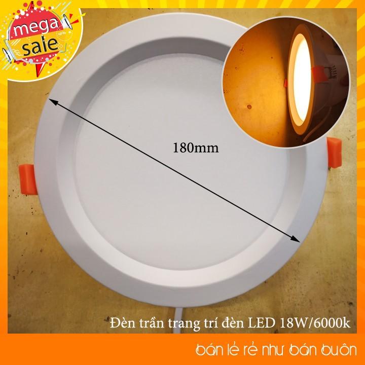Đèn trần trang trí đèn LED 18W/6000K