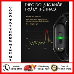 [GIÁ SỐC] Đồng hồ thể thao M4 chống nước IP65,Vòng đeo tay thông minh- Đo huyết áp nhịp tim