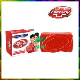 Xà bông cục Lifebuoy diệt khuẩn 90g - Bảo vệ vượt trội 10 - LIFEBUOY-BARSOAP-TOTAL10