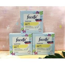 Băng vệ sinh Tampon Facelle Normal 3 giọt 64v hàng xách tay Đức