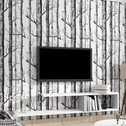 Cuộn 10 mét decal giấy dán tường rừng cây nghệ thuật keo sẵn khổ rộng 45cm