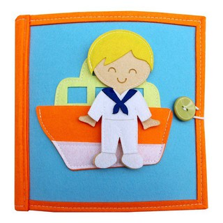Who Do You Want To Be For Boys Quiet Book Cloth Book - 7724466235 thumbnail