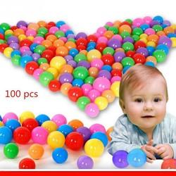Túi 100 quả bóng nhựa nhiều màu an toàn cho bé vui chơi