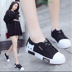 Giày lười nữ Sutumi W158 – Đen trắng