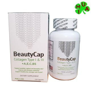 Viên uống bổ sung Collagen BeautyCap giúp làm đẹp da chống lão hoá - beautycap thumbnail