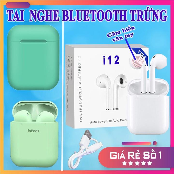 2 MẪU TAI BLUETOOTH IPHONE/IPAD SIÊU HOT - Tai I12 Và I12 Inpod - Nghe Nhạc + Đàm Thoại 2.5 Tiếng - PHỤ KIỆN CÔNG NGHỆ HÀ NỘI - 22000