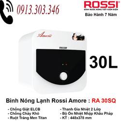 (BH 7 năm)Bình nước nóng 30L Rossi Amore RA 30SQ vuông CHÍNH HÃNG GIÁ GỐC