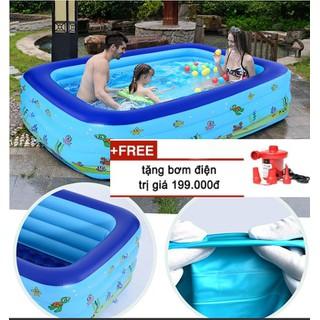 Bộ hồ bơi- phao tắm cho gia đình - Bộ sản phẩm bao gồm1 bể bơi phao, 2 miếng vá, 1 lọ keo vá - Bộ hồ bơi- phao tắm cho gia đình thumbnail