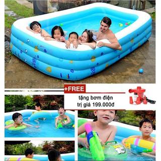 Bể tắm Phao bơi đủ các size cho bé và gia đình- hồ bơi chống trượt cao cấp tặng bơm điện - Bể tắm Phao bơi đủ các size cho bé và gia đì thumbnail