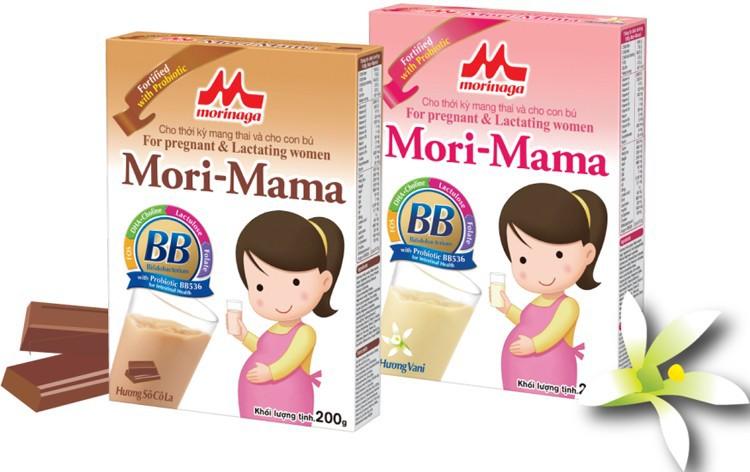 Combo 4 hộp Sữa bầu Morinaga dành cho phụ nữ thời kỳ mang thai và cho con bú Mori Mama - hương vani 200gr - cb4-morimama-vani 3