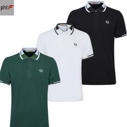 Combo 3 áo thun nam trơn thêu logo bông lúa cao cấp PHL Fashion CBATBL000