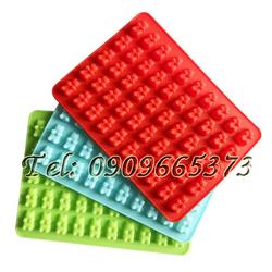 Khuôn silicon làm kẹo dẻo vĩ 50 hình gấu con – Mã số 349
