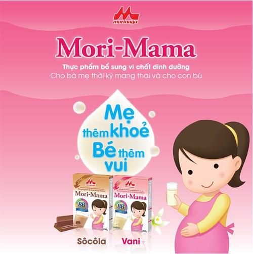 Combo 4 hộp Sữa bầu Morinaga dành cho phụ nữ thời kỳ mang thai và cho con bú Mori Mama - hương vani 200gr - cb4-morimama-vani 6